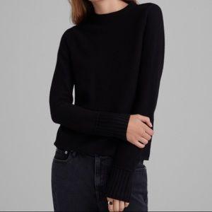 Merino Wool Sweater with Cuff Detail